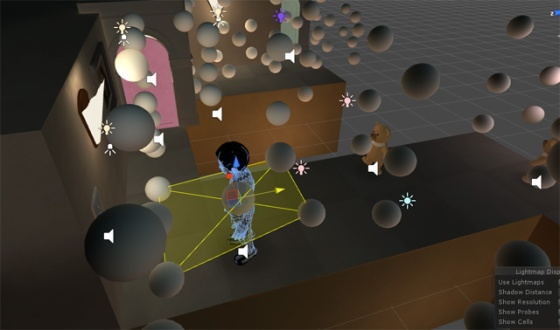 Working with light probes in Unity